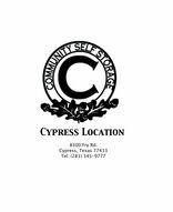 Community Self Storage - Cypress Fry Road
