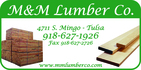 Thanks to BTW Swim Team Sponsor - M&M Lumber Co.