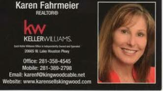 Gold Sponsor:  Karen Fahrmeier - Keller Williams Realty