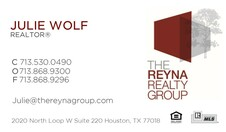 Julie Wolf, Realtor; The Reyna Group
